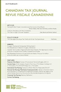 Canadian Tax Journal Volume 64,  No. 1