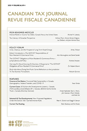 Canadian Tax Journal Volume 68, No.4